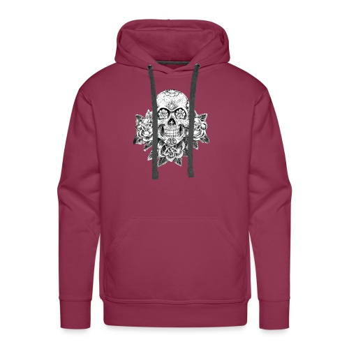 Tribal Skull - Felpa con cappuccio premium da uomo