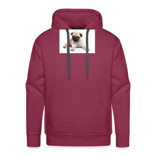 mopshond afdruk/print - Mannen Premium hoodie