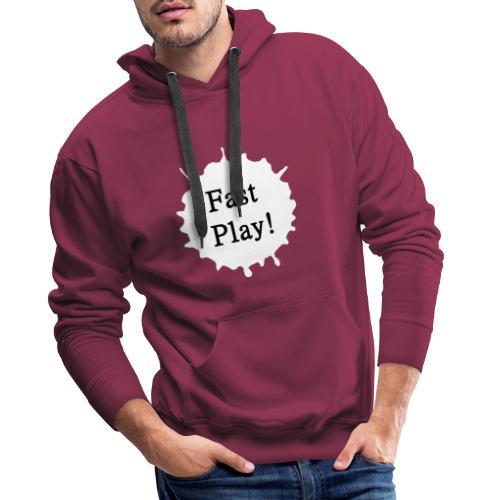 Fast play weiß - Männer Premium Hoodie