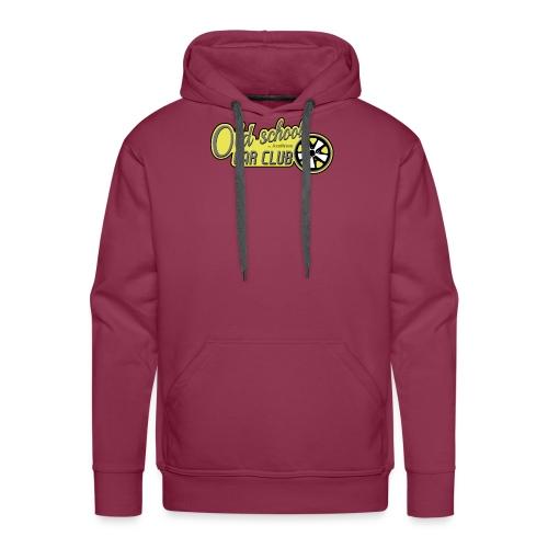 logo Olschool car club - Sweat-shirt à capuche Premium pour hommes