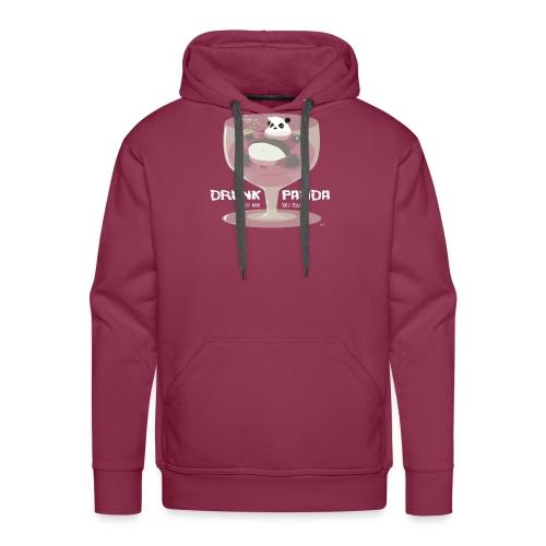 Drunk Panda - Sweat-shirt à capuche Premium pour hommes