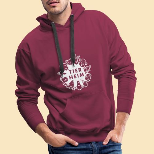 Tierheim Logo weiss - Männer Premium Hoodie
