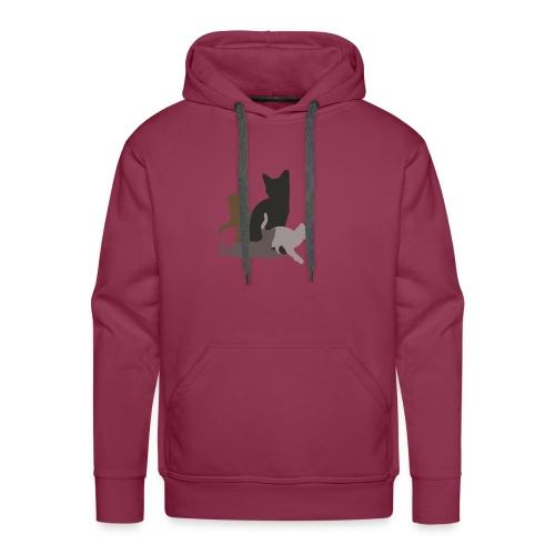 vier Katzen dunkel - Männer Premium Hoodie