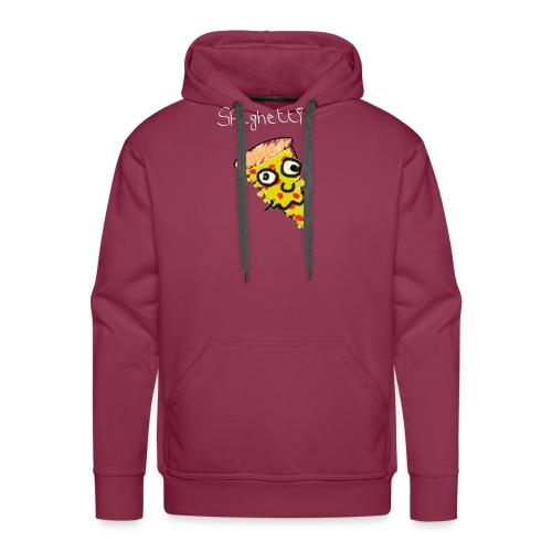 spaghetti (witte tekst) - Mannen Premium hoodie