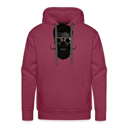 tete de mort crane skull hipster lunette de soleil - Sweat-shirt à capuche Premium pour hommes
