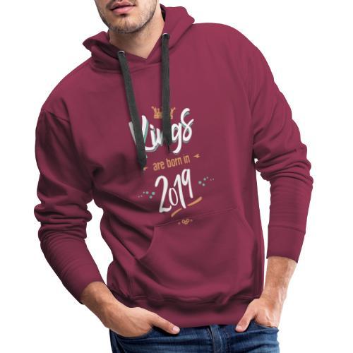 Kings are born in 2019 - Sweat-shirt à capuche Premium pour hommes