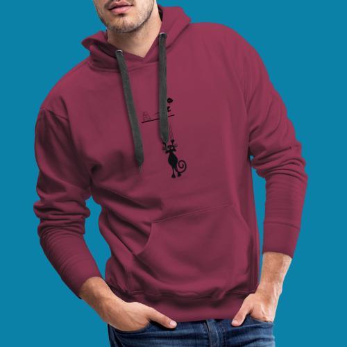 GATOS - Sudadera con capucha premium para hombre