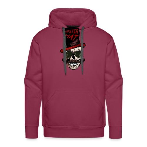 tete de mort hipster hat citation moustache crane - Sweat-shirt à capuche Premium pour hommes