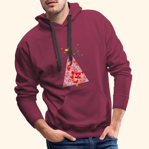 Christbaum der Herzen - Männer Premium Hoodie