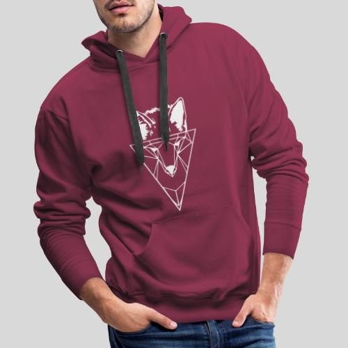 Fuchs Geometrie weiß - Männer Premium Hoodie