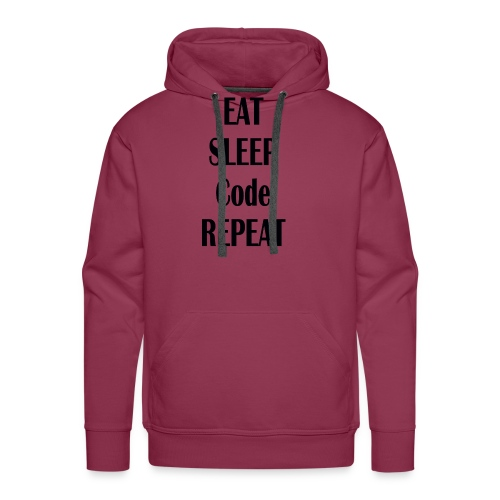 EAT SLEEP CODE REPEAT - Männer Premium Hoodie
