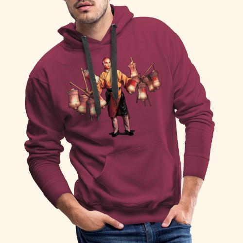 Shaolin kriger munk - Herre Premium hættetrøje