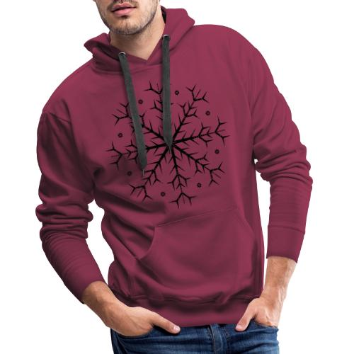 Flocon noir - Sweat-shirt à capuche Premium pour hommes