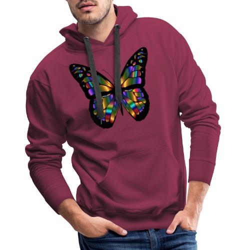 papillon design - Sweat-shirt à capuche Premium pour hommes