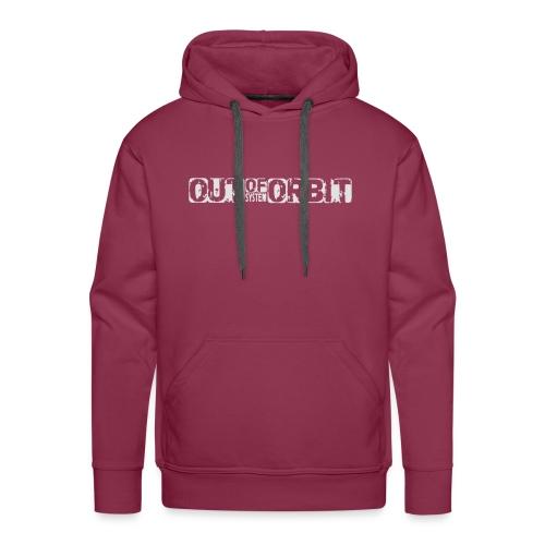 outoforbit witte sticker - Mannen Premium hoodie