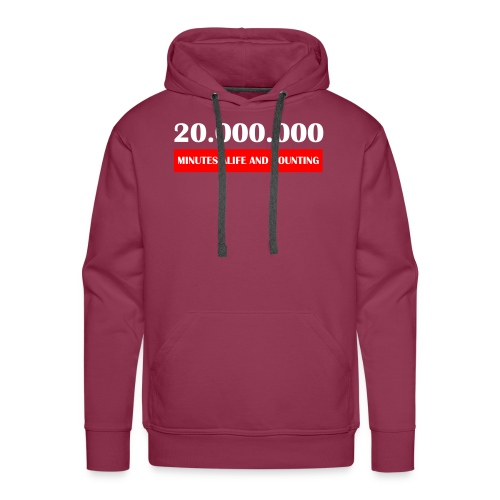 200000 Minutes Alive - Mannen Premium hoodie