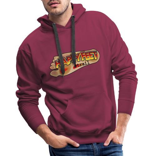 Happy Feet, spécial trail - Sweat-shirt à capuche Premium pour hommes