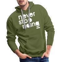 Never Stop Riding - Men's Premium Hoodie olive green