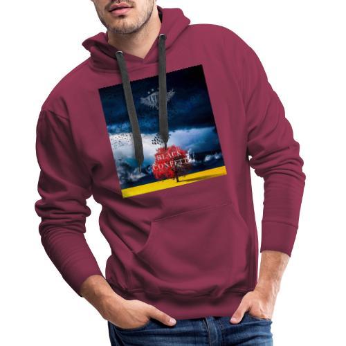 Black Confetti Promo Design - Men's Premium Hoodie