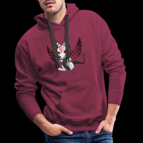 Démon Wolfire - Sweat-shirt à capuche Premium pour hommes