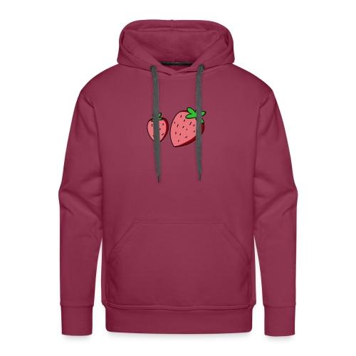 strawberry - Felpa con cappuccio premium da uomo