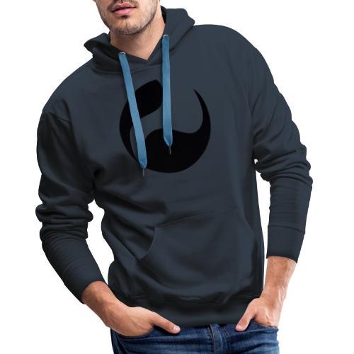 DEEPINSIDE logo ball black - Men's Premium Hoodie