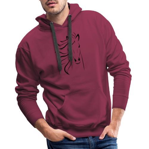 cheval - Sweat-shirt à capuche Premium pour hommes