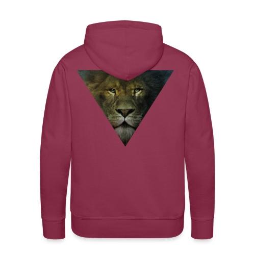 Lion Triangle Collection - Sweat-shirt à capuche Premium pour hommes