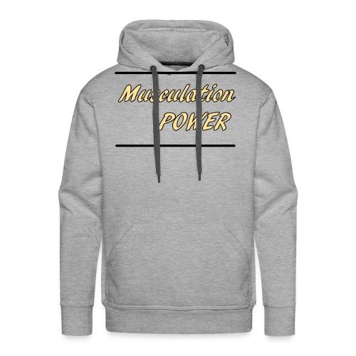 Musculation POWER HOMME - Sweat-shirt à capuche Premium pour hommes