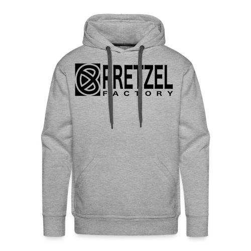 Pretzel Factory Logo Noir - Sweat-shirt à capuche Premium pour hommes
