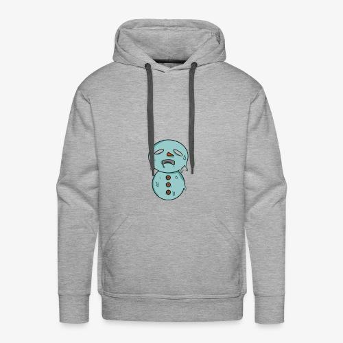 Bonhomme de neige qui fond - Sweat-shirt à capuche Premium pour hommes