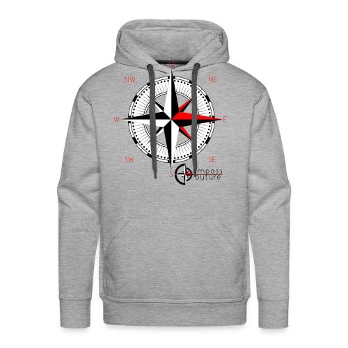 compass_logo_red - Männer Premium Hoodie