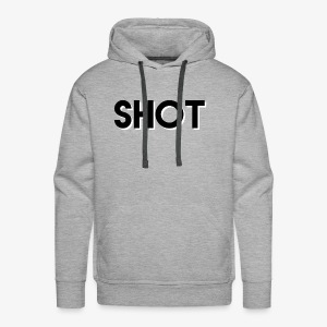 shot 3d text - Men's Premium Hoodie