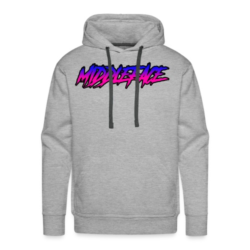 Middleface Logo - Blue and Pink - Men's Premium Hoodie
