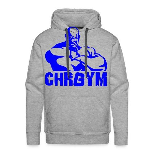 CHRGYM AZUL - Sudadera con capucha premium para hombre