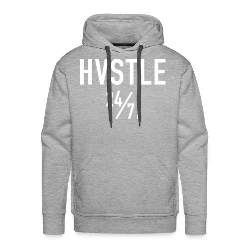 HVSTLE 24/7 - White Font - Männer Premium Hoodie