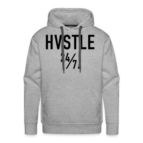 HVSTLE 24/7 Hoodie - Black Font - Männer Premium Hoodie