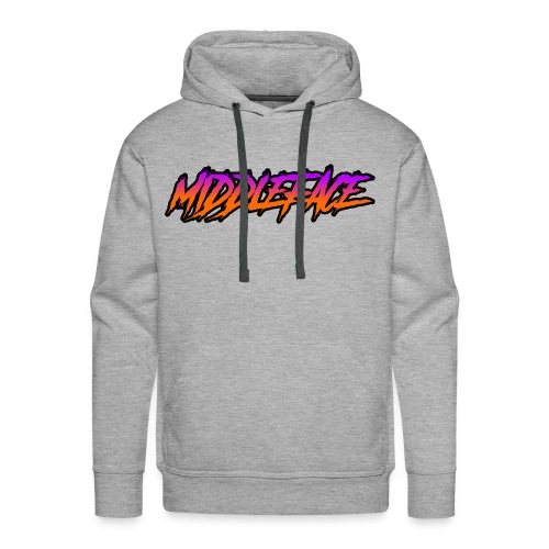 Middleface Logo - Orange and Purple - Men's Premium Hoodie