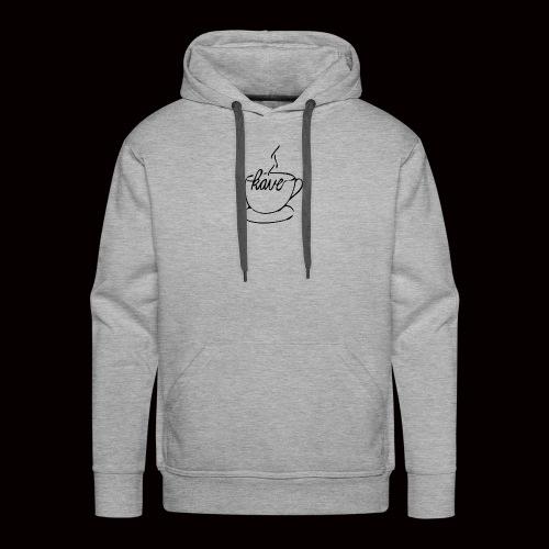 kave zeichnungbearbeitet 3 design ausgefüllt - Männer Premium Hoodie