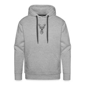 Deer Head - Sudadera con capucha premium para hombre