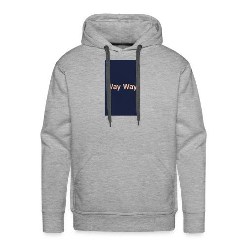 Way Way - Sweat-shirt à capuche Premium pour hommes