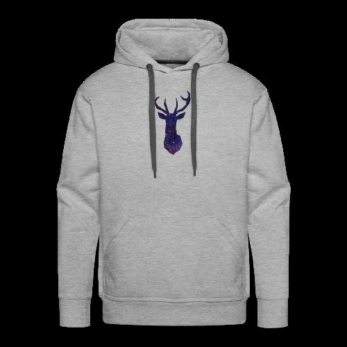 Cerf espace - Sweat-shirt à capuche Premium pour hommes