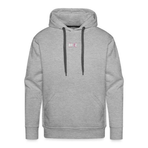 brizz white pink - Men's Premium Hoodie