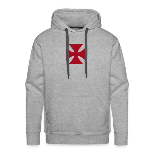 Cruz de malta - Sudadera con capucha premium para hombre