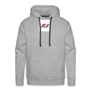 808 red on white box logo - Men's Premium Hoodie