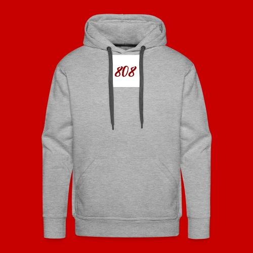 red on white 808 box logo - Men's Premium Hoodie