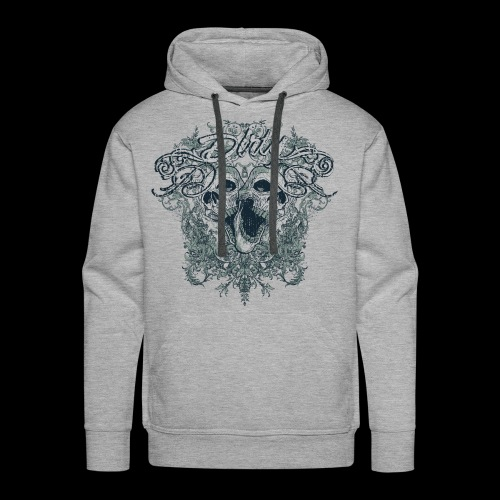 Dirty Totenkopf Gothic T-Shirt - Männer Premium Hoodie