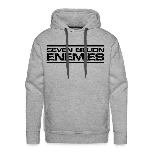 Seven Billion Enemies - NOIR - Sweat-shirt à capuche Premium pour hommes