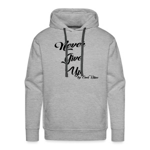 Never Give Up By OverDrive - Sudadera con capucha premium para hombre