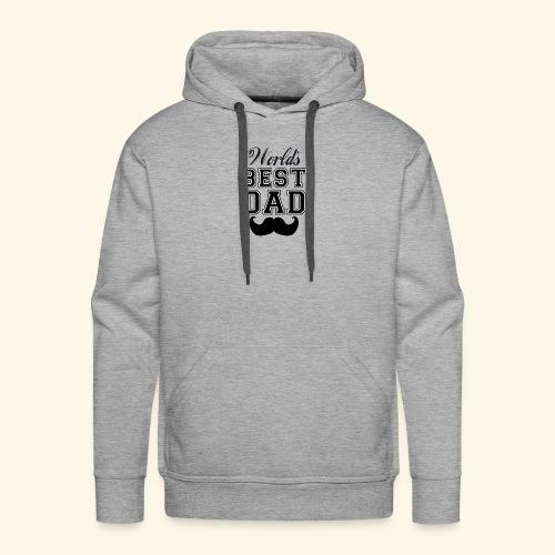 Worlds best dad - Herre Premium hættetrøje